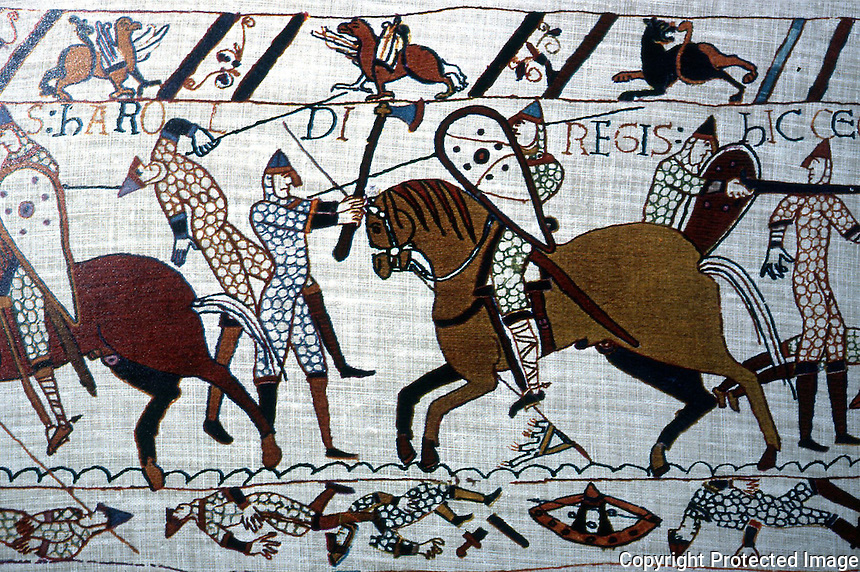 Visual Arts:  Bayeaux Tapestry #7.  Hastings--hours of slaughter.