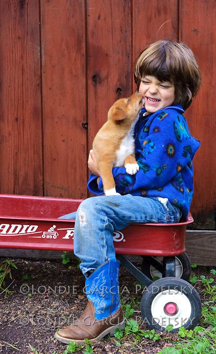 Puppy love!  San Luis Obispo, California