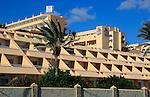 SBH hotel balconies at Solana Matoral, Morro Jable, Jandia peninsula, Fuerteventura, Canary Islands, Spain