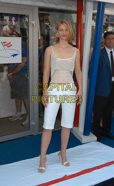 CLAIRE DANES.opens the American Pavillion.Cannes Film Festival 2003.www.capitalpictures.com.sales@capitalpictures.com.©Capital Pictures.pedal pushers