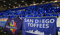 29th October 2019; Goodison Park, Liverpool, Merseyside, England; English Football League Cup, Carabao Cup Football, Everton versus Watford; a sea of blue flags await Everton fans prior to the match  - Strictly Editorial Use Only. No use with unauthorized audio, video, data, fixture lists, club/league logos or 'live' services. Online in-match use limited to 120 images, no video emulation. No use in betting, games or single club/league/player publications