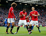 Anthony Martial of Manchester United celebrates scoring the fourth goal during the premier league match at the Old Trafford Stadium, Manchester. Picture date 17th September 2017. Picture credit should read: Simon Bellis/Sportimage