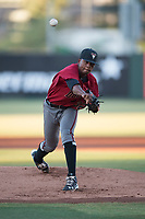 AZL Diamondbacks starting pitcher Alex Valdez (32) delivers a pitch during an Arizona League game against the AZL Angels at Tempe Diablo Stadium on June 27, 2018 in Tempe, Arizona. The AZL Angels defeated the AZL Diamondbacks 5-3. (Zachary Lucy/Four Seam Images)