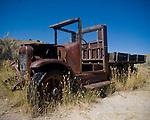 Truck in Bannack, Montana.