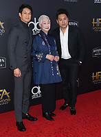 04 November 2018 - Beverly Hills, California - Harry Shum Jr., Lisa Lu, Jon M. Chu. 22nd Annual Hollywood Film Awards held at Beverly Hilton Hotel. <br /> CAP/ADM/BT<br /> &copy;BT/ADM/Capital Pictures