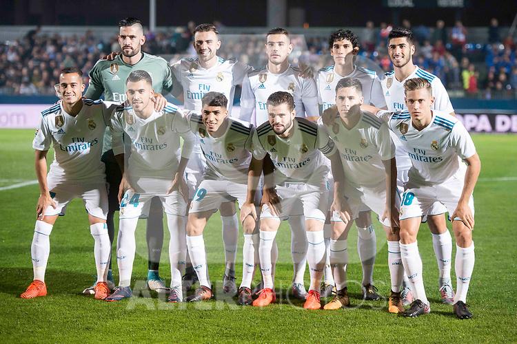 Real Madrid during Copa del Rey match between Fuenlabrada and Real Madrid at Fernando Torres Stadium in Madrid, Spain. October 26, 2017. (ALTERPHOTOS/Borja B.Hojas)