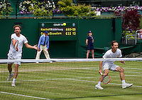 London, England, 3 July, 2016, Tennis, Wimbledon, Men's doubles Wesley Koolhof (NED) and partner Matwe Middelkoop (NED) (L)<br /> Photo: Henk Koster/tennisimages.com
