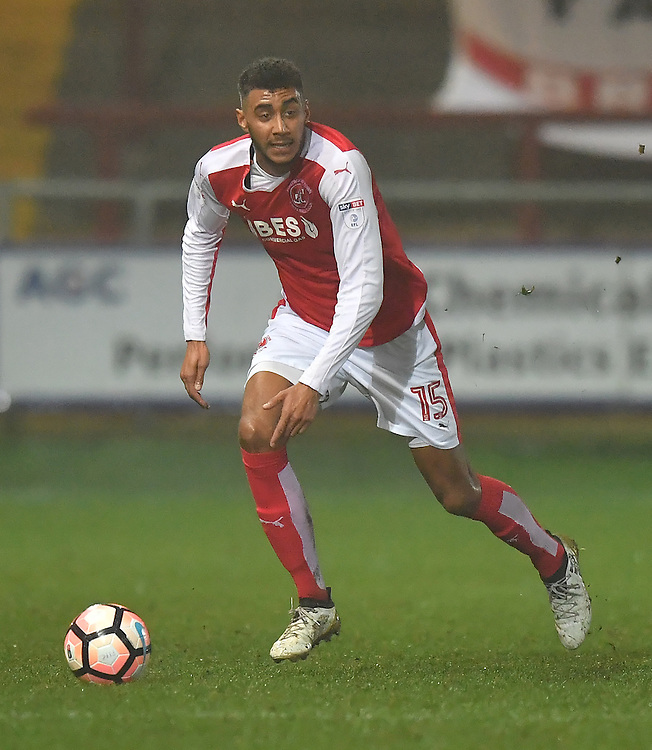 Fleetwood Town's Victor Nirennold<br /> <br /> Photographer Dave Howarth/CameraSport<br /> <br /> Emirates FA Cup Third Round Replay - Fleetwood Town v Bristol City - Tuesday 17th January 2017 - Highbury Stadium - Fleetwood<br />  <br /> World Copyright &copy; 2017 CameraSport. All rights reserved. 43 Linden Ave. Countesthorpe. Leicester. England. LE8 5PG - Tel: +44 (0) 116 277 4147 - admin@camerasport.com - www.camerasport.com