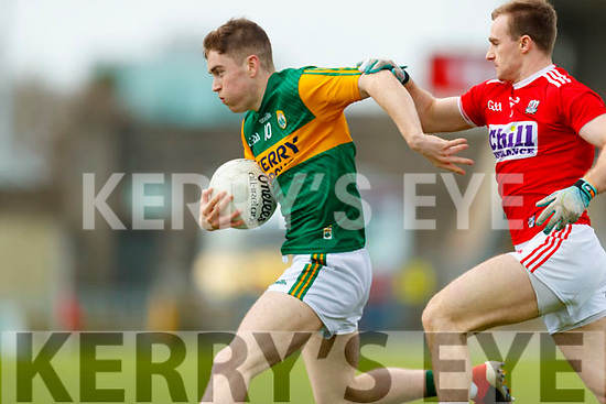 Ronan Buckley, Kerry in action against Mattie Taylor, Cork during the 2020 McGrath Cup Group B match between Kerry and Cork at Austin Stack Park in Tralee, Kerry.