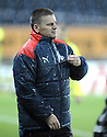 21/11/2009  Copyright  Pic : James Stewart.sct_jspa21_falkirk_v_hamilton  . :: A RELIEVED FALKIRK MANAGER EDDIE MAY AT THE END OF THE GAME :: .James Stewart Photography 19 Carronlea Drive, Falkirk. FK2 8DN      Vat Reg No. 607 6932 25.Telephone      : +44 (0)1324 570291 .Mobile              : +44 (0)7721 416997.E-mail  :  jim@jspa.co.uk.If you require further information then contact Jim Stewart on any of the numbers above.........