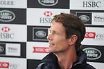 William Fox Pitt at the Press Conference after day 1 of the dressage phase of the 2012 Land Rover Burghley Horse Trials in Stamford, Lincolnshire