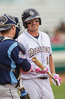 San Antonio Missions outfielder Hunter Renfroe (10) during the Texas League baseball game against the Corpus Christi Hooks on May 10, 2015 at Nelson Wolff Stadium in San Antonio, Texas. The Missions defeated the Hooks 6-5. (Andrew Woolley/Four Seam Images)