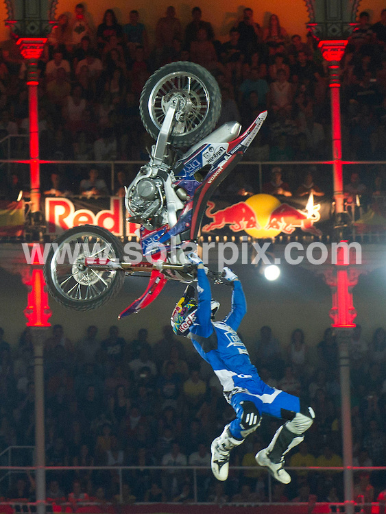 **ALL ROUND PICTURES FROM SOLARPIX.COM**                                             **WORLDWIDE SYNDICATION RIGHTS EXCEPT SPAIN - NO SYNDICATION IN SPAIN**                                                                                  Caption: Red Bull X Fighter 2011 at the Plaza de las Ventas, Madrid, Spain. 15 July 2011.This pic: Josh Sheehan                                              JOB REF: 13726 DMS Drake      DATE: 15_07_2011                                                           **MUST CREDIT SOLARPIX.COM OR DOUBLE FEE WILL BE CHARGED**                                                                      **MUST AGREE FEE BEFORE ONLINE USAGE**                               **CALL US ON: +34 952 811 768 or LOW RATE FROM UK 0844 617 7637**