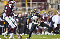 Missouri tackle Russell Hansbrough (32) celebrates after a completion during first half of an NCAA football game, Saturday, November 15, 2014 in College Station, Tex. Texas A&M leads 13-6 at the halftime. (Mo Khursheed/TFV Media via AP Images)