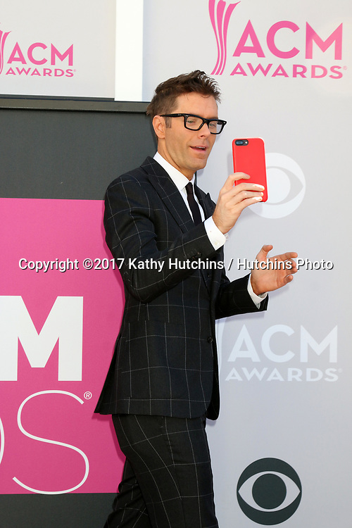LAS VEGAS - APR 2:  Bobby Bones at the Academy of Country Music Awards 2017 at T-Mobile Arena on April 2, 2017 in Las Vegas, NV