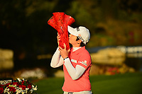 The 2018 Kia Classic tournament Champion Eun-Hee Ji (KOR) kisses the trophy during the Final Round at the Kia Classic,Park Hyatt Aviara Resort, Golf Club &amp; Spa, Carlsbad, California, USA. 1/2/12.<br /> Picture: Golffile | Bruce Sherwood<br /> <br /> <br /> All photo usage must carry mandatory copyright credit (&copy; Golffile | Bruce Sherwood)