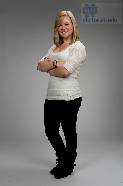 December 2, 2011; Kimberly Lisiak - Admissions Student Portraits for Web. Photo by Barbara Johnston/University of Notre Dame.