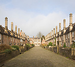 Vicars' Close, Wells, Somerset, England, is a planned street of the mid-14th century claimed to be Europe's oldest purely residential street with its original buildings all surviving intact.