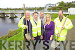 WORKING HARD: Participants in the Rural Social Scheme in Listowel, which is inviting submissions for work in the area, working on the River Walk in the town on Friday, l-r: James Buckley, Donal Moloney, Donal Enright, Geraldine Kelly (Supervisor), Matt Quilter.