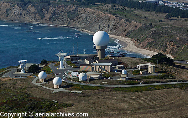 aerial photograph Pillar Point Air Force Station San Mateo County, California