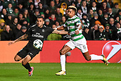 12th September 2017, Glasgow, Scotland; Champions League football, Glasgow Celtic versus Paris Saint Germain;  32 DANI ALVES (psg) slide tackles Scott Sinclair (cel)