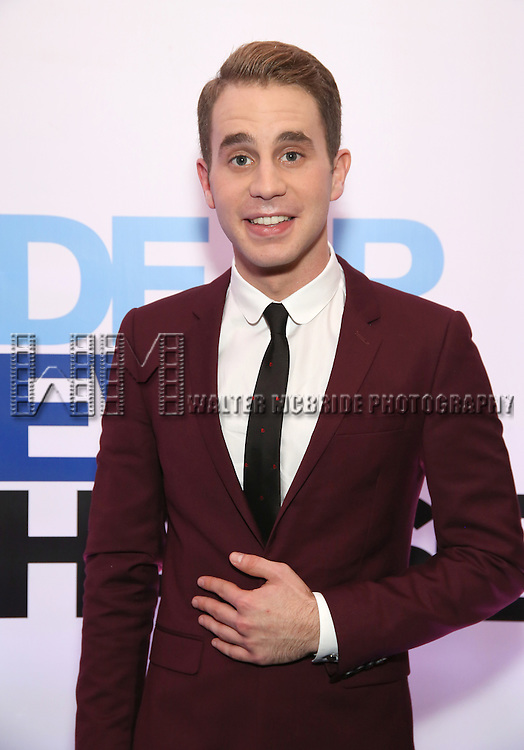 Ben Platt attends the Broadway Opening Night After Party for 'Dear Evan Hansen'  at The Pierre Hotel on December 3, 2016 in New York City.