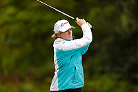 Clare Balding drives at the 6th during the Hero Pro-am at the Betfred British Masters, Hillside Golf Club, Lancashire, England. 08/05/2019.<br /> Picture David Kissman / Golffile.ie<br /> <br /> All photo usage must carry mandatory copyright credit (© Golffile | David Kissman)