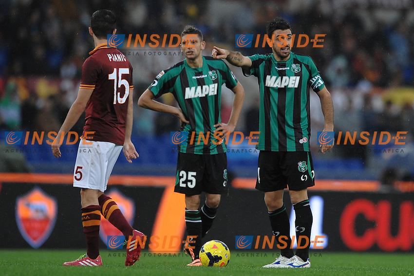 "Francesco Magnanelli e Domenico Berardi Sassuolo. Roma 10-11-2013 Stadio Olimpico. Football Calcio 2013/2014 Serie A. AS Roma - Sassuolo. Foto ""Antonietta Baldassarre"" Insidefoto"