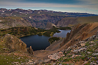 Twin Lakes along Beartooth Highway