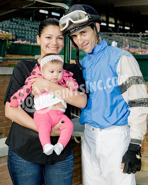 Alex Cintron and family at Delaware Park on 10/18/12
