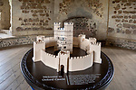 Model of the 12th century Orford castle,  Suffolk, England, UK