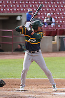 Beloit Snappers infielder Edwin Diaz (4) at bat during a Midwest League game against the Wisconsin Timber Rattlers on May 30th, 2015 at Fox Cities Stadium in Appleton, Wisconsin. Wisconsin defeated Beloit 5-3 in the completion of a game originally started on May 29th before being suspended by rain with the score tied 3-3 in the sixth inning. (Brad Krause/Four Seam Images)