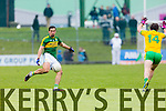 Anthony Maher Kerry in action against Michael Murphy Donegal in Division One of the National Football League at Austin Stack Park Tralee on Sunday.