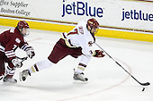 Casey Wellman (UMass - 7), Carl Sneep (BC - 7) - The Boston College Eagles defeated the University of Massachusetts-Amherst Minutemen 5-2 on Saturday, March 13, 2010, at Conte Forum in Chestnut Hill, Massachusetts, to sweep their Hockey East Quarterfinals matchup.