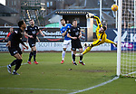Dundee v St Johnstone&hellip;29.12.18&hellip;   Dens Park    SPFL<br />Jack Hamilton is helpless as Scott Tanser&rsquo;s cross goes ver his head to give saints the lead<br />Picture by Graeme Hart. <br />Copyright Perthshire Picture Agency<br />Tel: 01738 623350  Mobile: 07990 594431