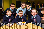 Ardfert national school Lorcan Ryan,Rory Dalton, Emer O'Sullivan, Back l-r Christopher Egan, Breathan Runaí and Jack Kearney at the Primary schools science quiz  ITT South Campus on Thursday