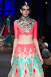 Model walks runway in an outfit from Indian by Manish Arora, during the Indo-American Arts Council 15th Anniversary Gala at the Angel Orensanz Foundation for the Performing Arts, on November 21, 2013.
