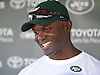Todd Bowles, New York Jets head coach, speaks with the media after a day of team training camp at Atlantic Health Jets Training Center in Florham Park, NJ on Wednesday, Aug. 3, 2016.