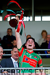 Darragh Behan Crotta O'Neills captain lifts the cup after his team won the Minor Hurling County Final  Abbeydorney/Tralee Parnells at Austin Stack Park on Sunday.
