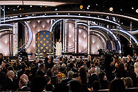Meher Tatna, President of the HFPA, presents at the 76th Annual Golden Globe Awards at the Beverly Hilton in Beverly Hills, CA on Sunday, January 6, 2019.<br /> *Editorial Use Only*<br /> CAP/PLF/HFPA<br /> Image supplied by Capital Pictures