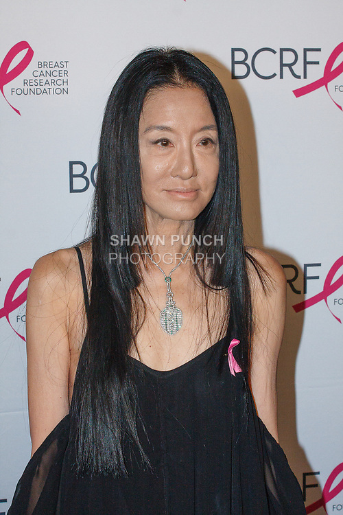 "Vera Wang attends The Breast Cancer Research Foundation ""Super Nova"" Hot Pink Party on May 12, 2017 at the Park Avenue Armory in New York City."