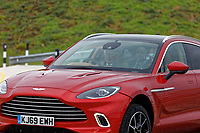 Pictured: Prince Charles arrives in the driving seat of a brand new Aston Martin DBX. Friday 21 February 2020<br /> Re: HRH Prince Charles visits the Aston Martin Lagonda factory in St Athan, south Wales, UK.