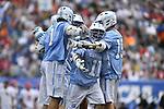 30 MAY 2016: Brian Cannon of the University of North Carolina celebrates against  the University of Maryland during the Division I Men's Lacrosse Championship held at Lincoln Financial Field in Philadelphia, PA. Larry French/NCAA Photos