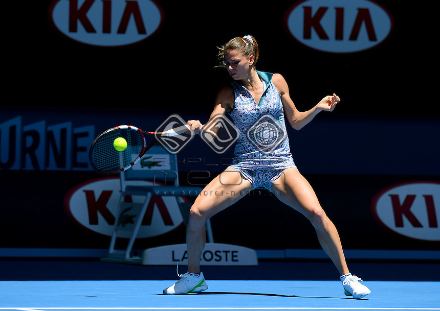 Camila Giorgi (ITA) during her 3rd round match<br /> 2015 Australian Open Tennis / Day 6<br /> Grand Slam of Asia Pacific<br /> Melbourne Park, Vic Australia<br /> Saturday 24 January 2015<br /> &copy; Sport the library / Jeff Crow