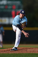 Maine Black Bears pitcher Chris Piteo (34) during a game against the Ball State Cardinals on March 3, 2015 at North Charlotte Regional Park in Port Charlotte, Florida.  Ball State defeated Maine 8-7.  (Mike Janes/Four Seam Images)
