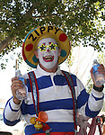 Zippy the Clown is always a favorite at the Cantaloupe Festival.  Photo by Tom Smedes.