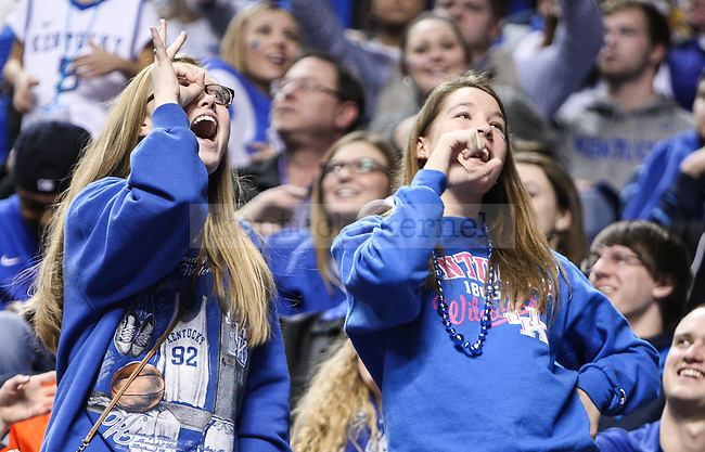 Kentucky fans dance during the second half of the Kentucky vs. Georgia men's basketball game at Rupp Arena on Tuesday, February 3, 2015 in Lexington, Ky. Kentucky defeated Georgia 69-58. Photo by Adam Pennavaria | Staff