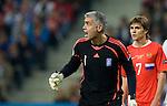 Antonios Nikopolidis and Dmitriy Torbisnkiy at Euro 2008, RUS-GRE, 06142008, Salzburg, Austria