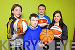 The KDYS/Garda Basketball Blitz will take place on Good Friday in Castleisland Community Centre from 10am. Pictured were: Ethan Reidy, Dominic Prendiville, Damien Feehan and Helena Falvey (Youth Justice Worker).