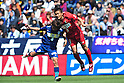 Tatsunori Yamagata (Avispa), Daiki Iwamasa (Antlers),APRIL 29, 2011 - Football: 2011 J.League Division 1 match between Avispa Fukuoka 1-2 Kashima Antlers at Level 5 Stadium in Fukuoka, Japan. (Photo by AFLO)